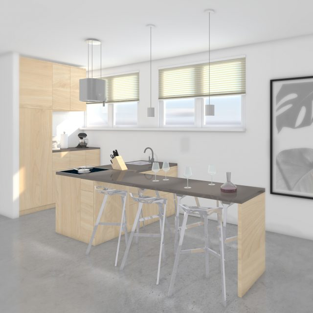 Impression L kitchen; bar, dining table, kitchen and more