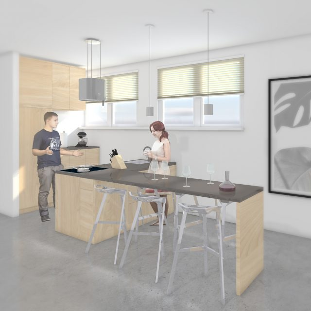 Impression L kitchen: multi functional kitchen with users