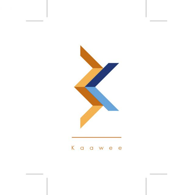Kaawee business card design, front side