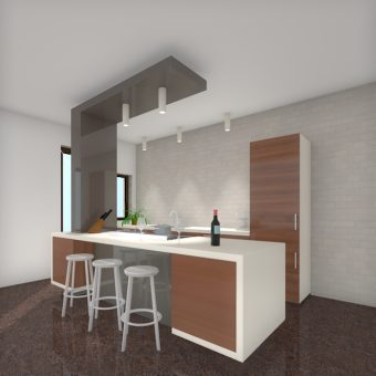 Design C kitchen: renovation dining room and kitchen