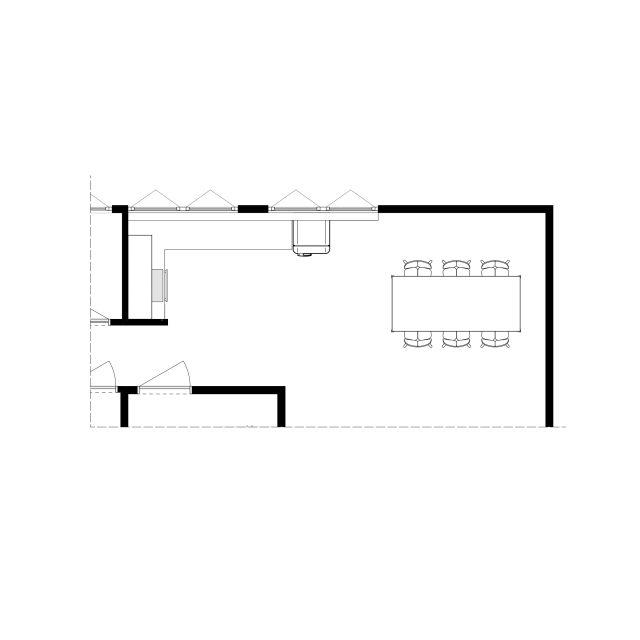 Floor plan starting point design L kitchen