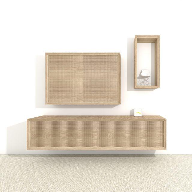 Design cabinet Hide front perspective