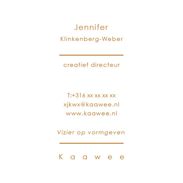 Kaawee business card design, back side