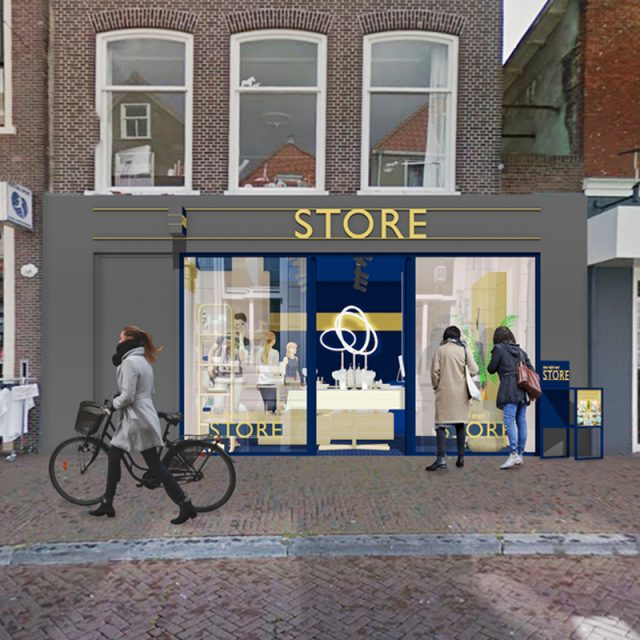 Impression STORE street view with shoppers